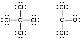 6 2 lewis structures introductory chemistry Lewis Dot Structure for CF4 two lewis structures are shown the left depicts a carbon atom single bonded to four