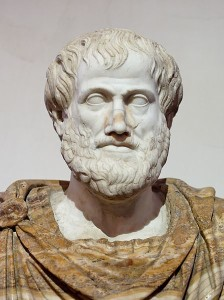 Photo of marble bust of Aristotle