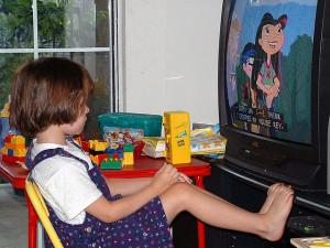 Image of child watching tv