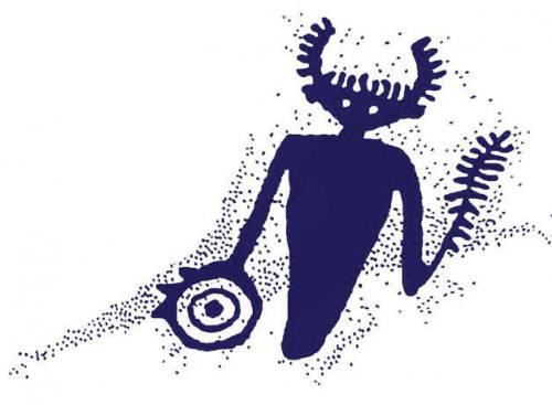 Example of a petroglyph showing a human torso.