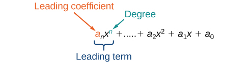 identifying the degree and leading coefficient of polynomials
