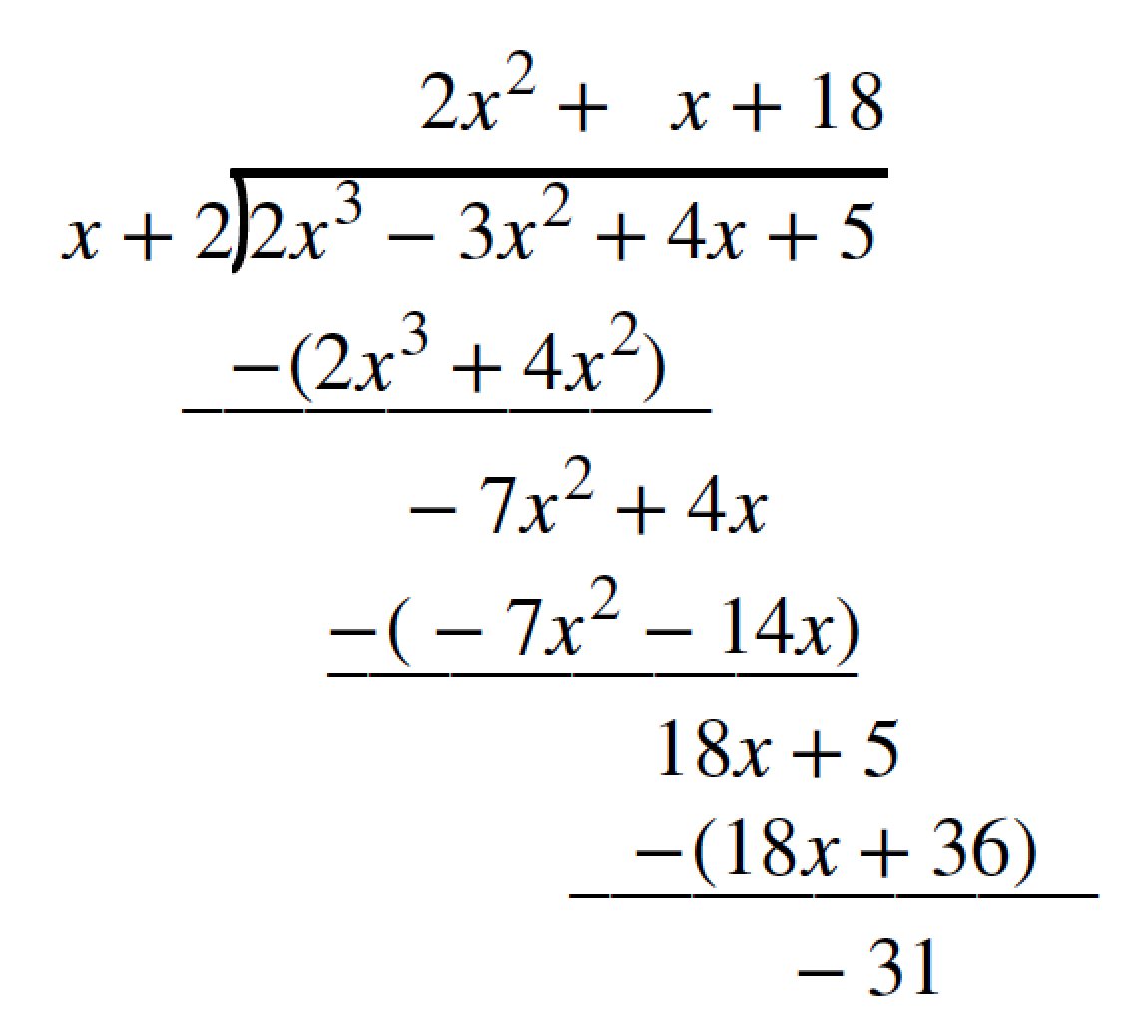 Use Synthetic Division To Divide Polynomials Math 1314 College