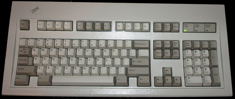 IBM Model M keyboard, Part no. 1391401