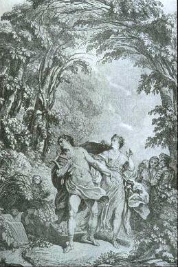 Illustration for the score of the original Vienna version ofOrfeo ed Euridice