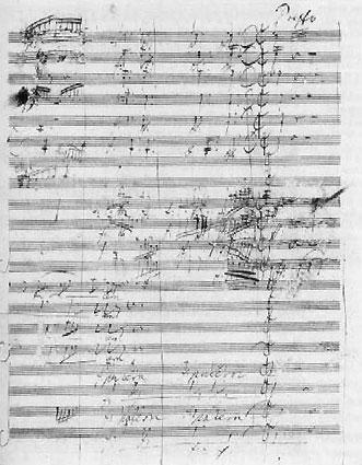 Manuscript of Missa Solemnis