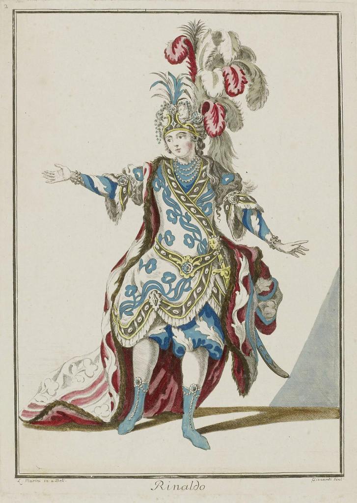 "Eighteenth-century ""Rinaldo"" theatre (opera) costume."