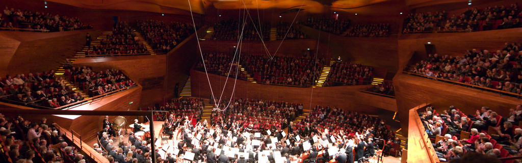 View of the audience during a performance by the Danish National Symphony Orchestra