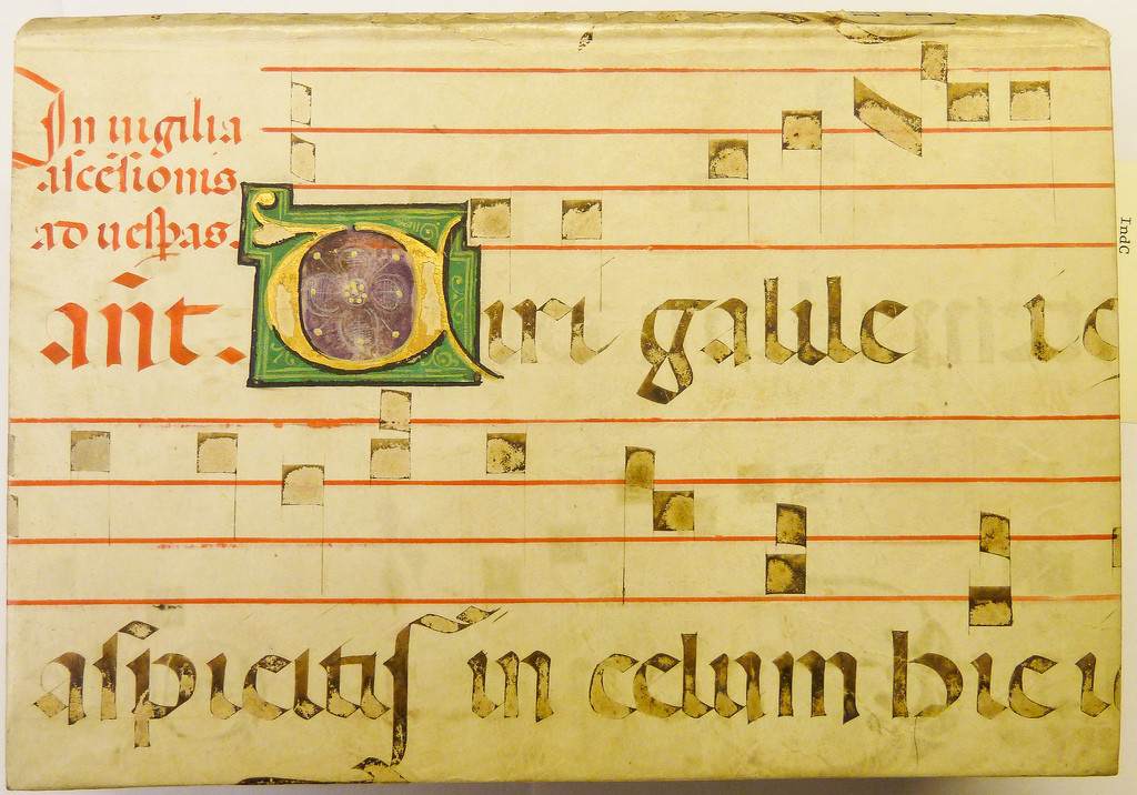 Portion of a parchment leaf from a liturgical manuscript