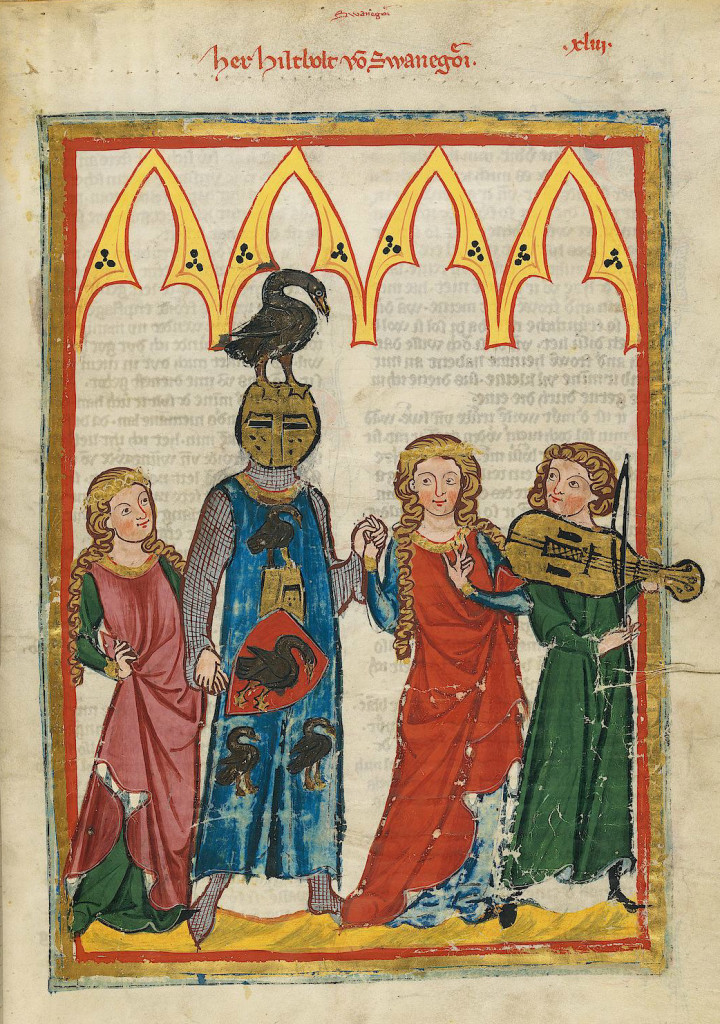 Codex Manesse, from between 1305 and 1315, showing musicians