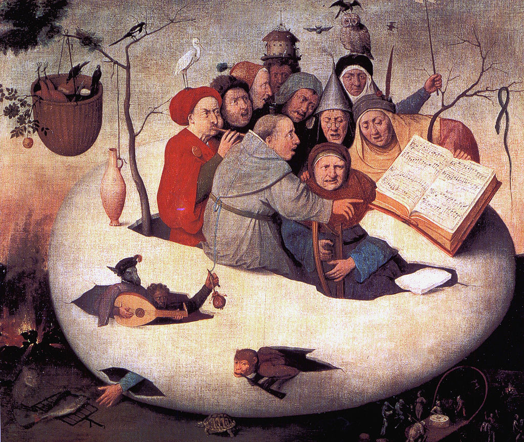 Concert in the Egg, painting by Hieronymus Bosch
