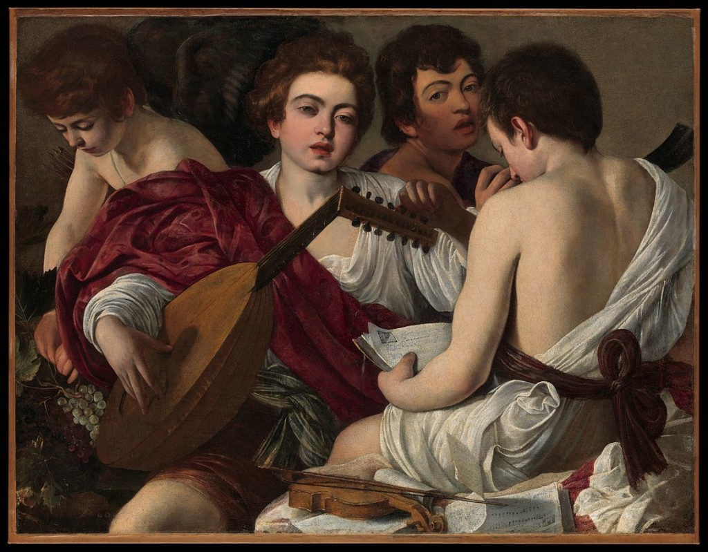 The Musicians, painting by Caravaggio, c. 1595