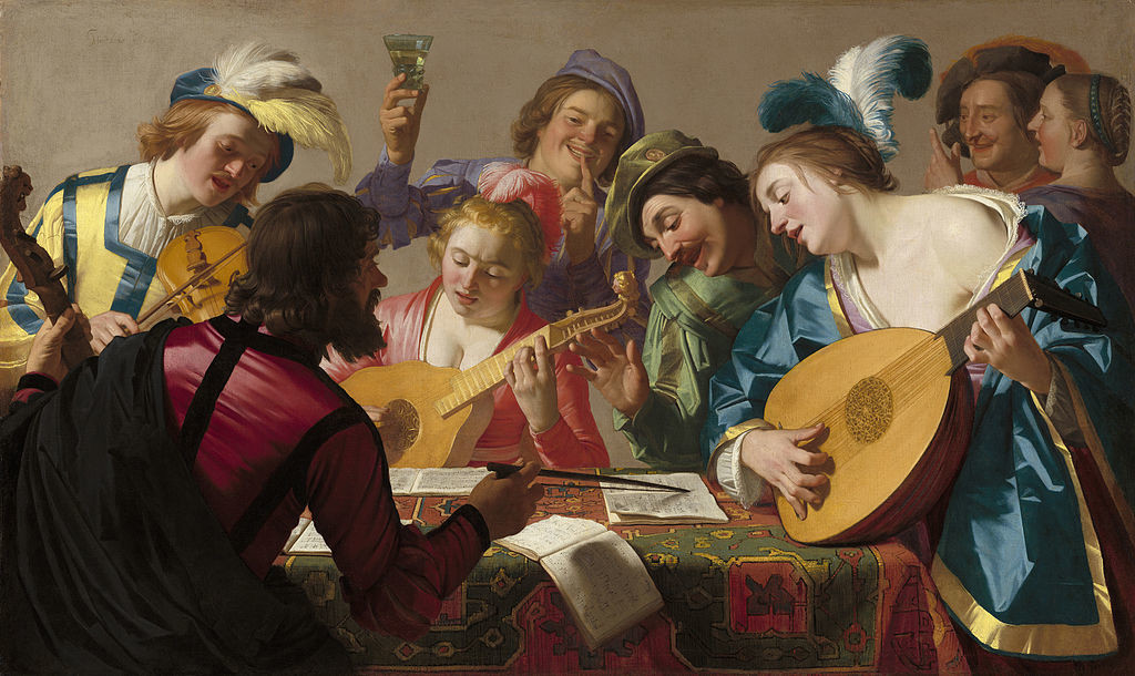 The Concert, painting by Gerard van Honthorst, 1623