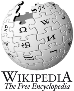 Wikipedia logo, showing sphere made up of puzzle pieces