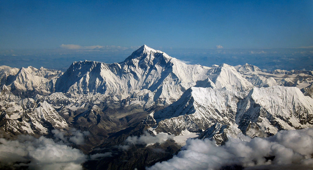 an arial view of Mount Everest