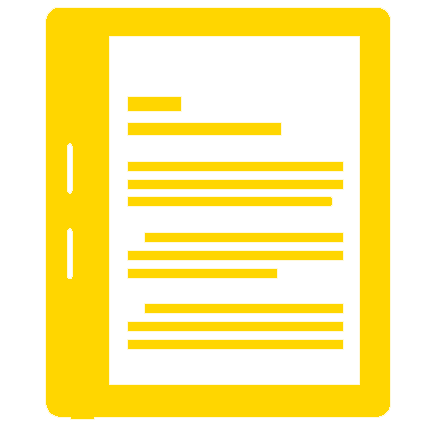 icon of an e-reader