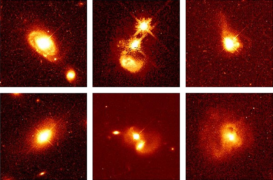 Quasar Host Galaxies. These HST images reveal the details of the fainter