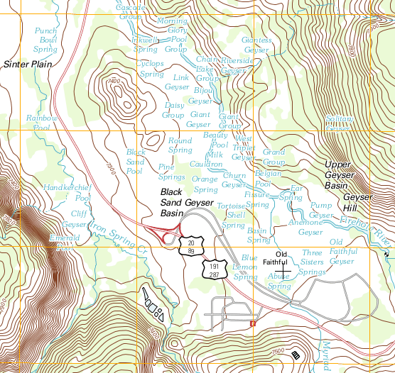 Cliff On A Topographic Map.Reading Maps Geology