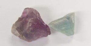 duas variedades de fluorita