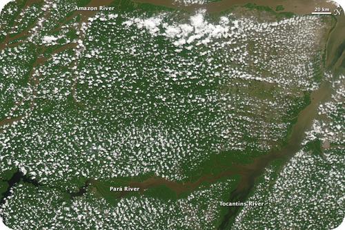 nuvens sobre a floresta amazônica