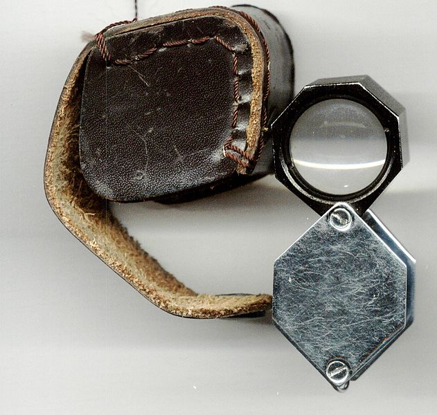Loupe used by a geologist