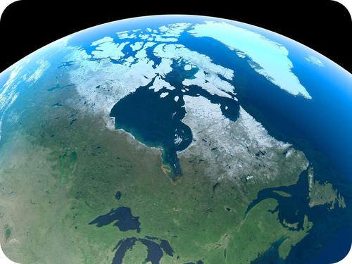 Imagem de satélite do escudo canadense