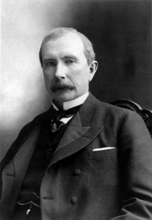 Black and white photo of John D. Rockefeller