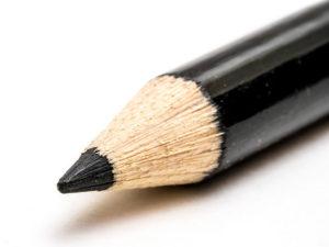 black colored pencil