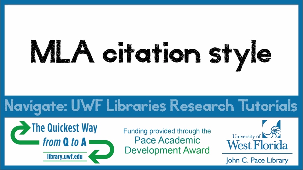 Screenshot of MLA citation style video to take you to video link.