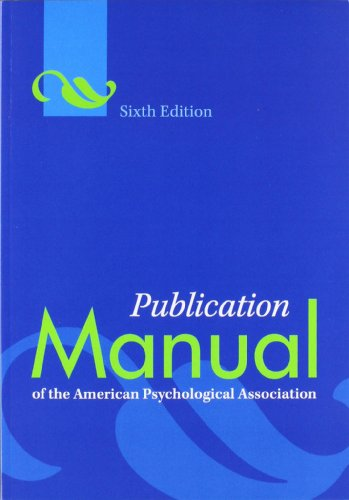 Cover of the text Publication Manual of the American Psychological Association, 6th Edition