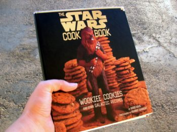 Photo of the cover of The Star Wars Cookbook: a pile of cookies with a Wookie in the front.