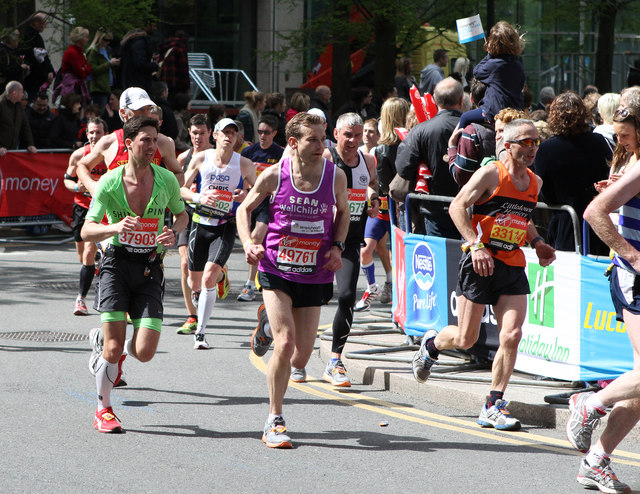 everal runners in a race
