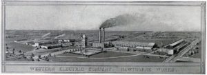 Aerial view of the Western Electric Company Hawthorne Works