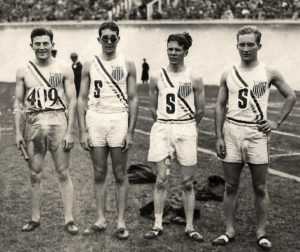 Photo of the U.S. olympic relay team, 1928