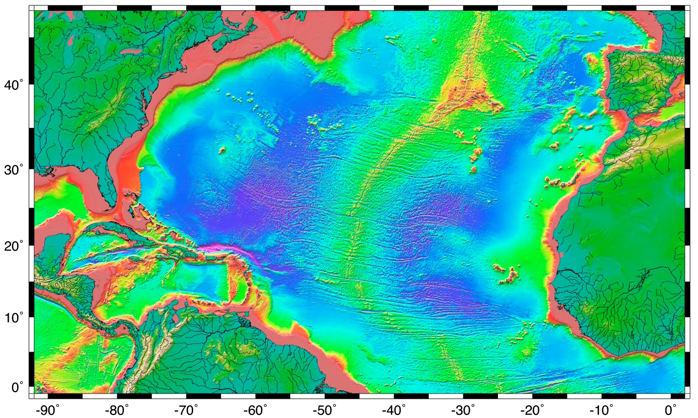18.1 The Topography of the Sea Floor | Physical Geology