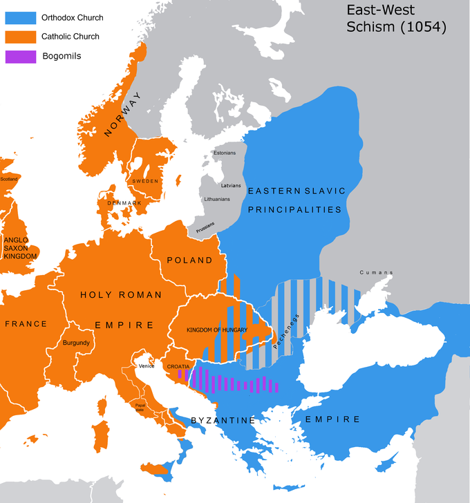 The Great Schism of 1054 | Western Civilization