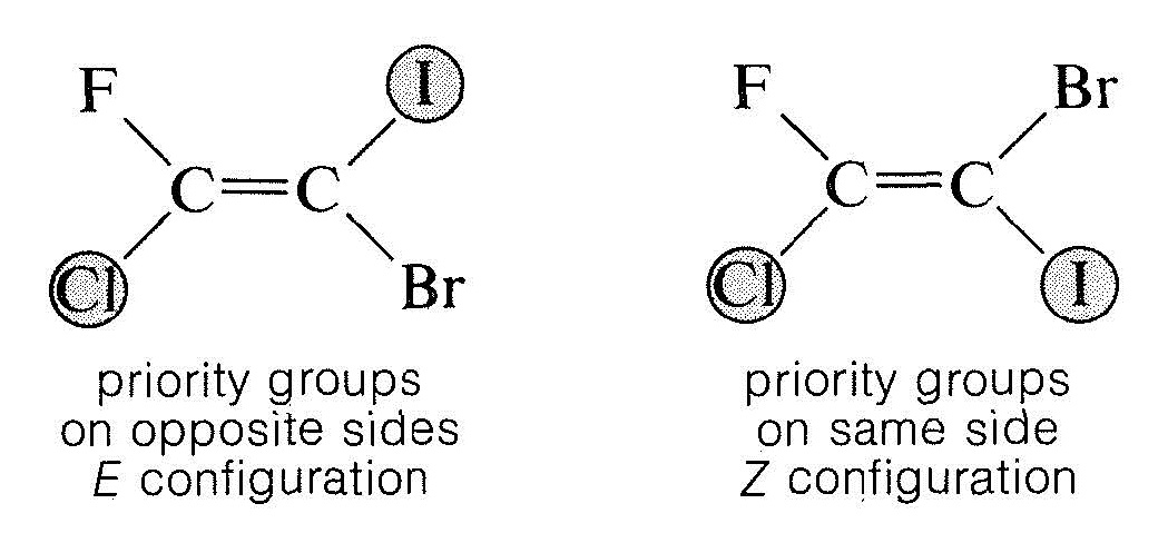 Sequence Rules The Ez Designation Mcc Organic Chemistry