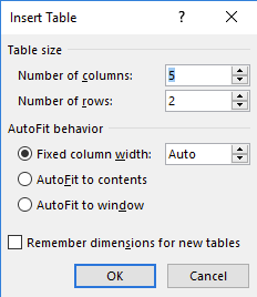 An insert table dialog box is open.