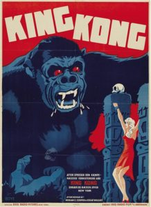 Movie poster for Danish version of King Kong