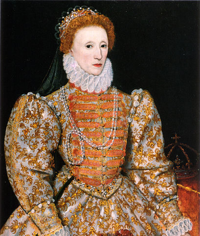 a painting of queen elizabeth the first.