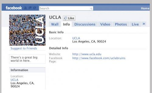 Screenshot of Facebook UCLA page