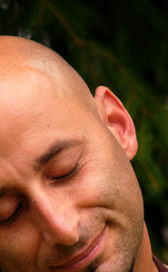 Relaxed man's face