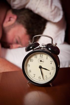 A man suffering insomnia