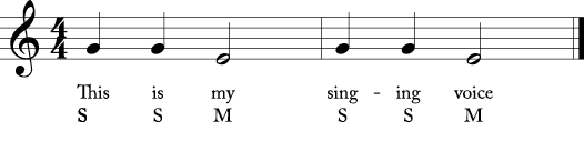 This is my singing voice solfege