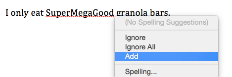 One sentence of text with a dropdown menu giving you the option to correct a grammatical error in the sentence.