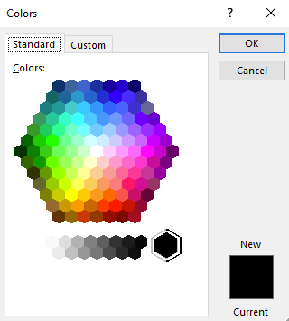 Color dialog box.