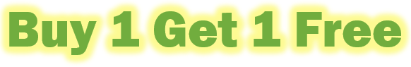 """Green text effect words are being displayed. The words read """"Buy 1 Get 1 Free"""". It is showing that there is a glow being applied."""
