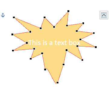 A mustard yellow star is displayed with a sentence of text on the inside in white font color.