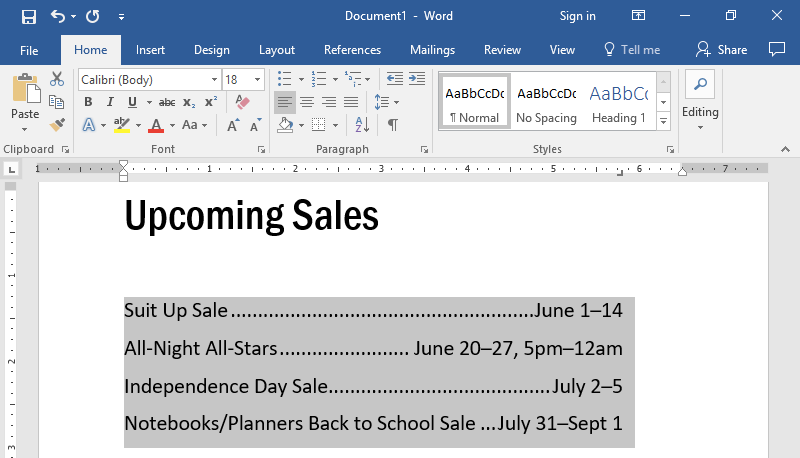 A Microsoft Word document is open with text on it. The text has been highlighted in gray to show what updating the leader does.