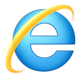 The internet explorer icon.