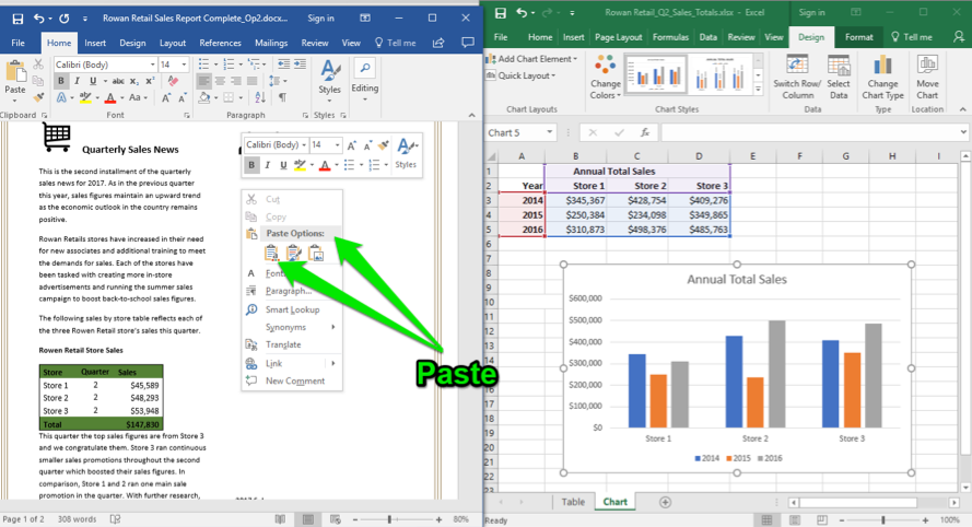 using word with excel and powerpoint computer applications for